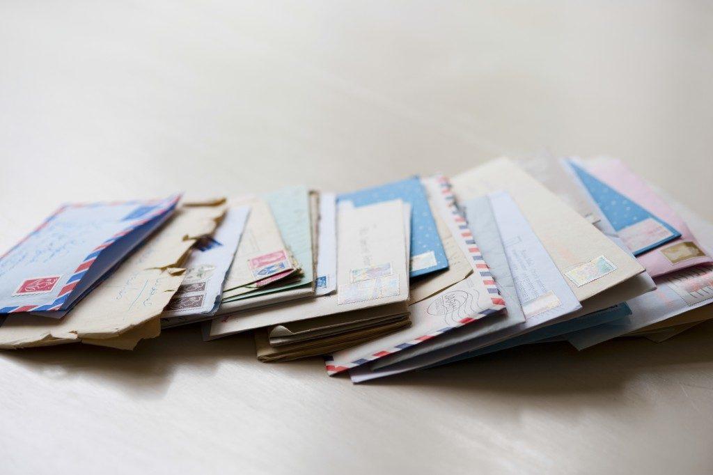 bunch of letter envelopes