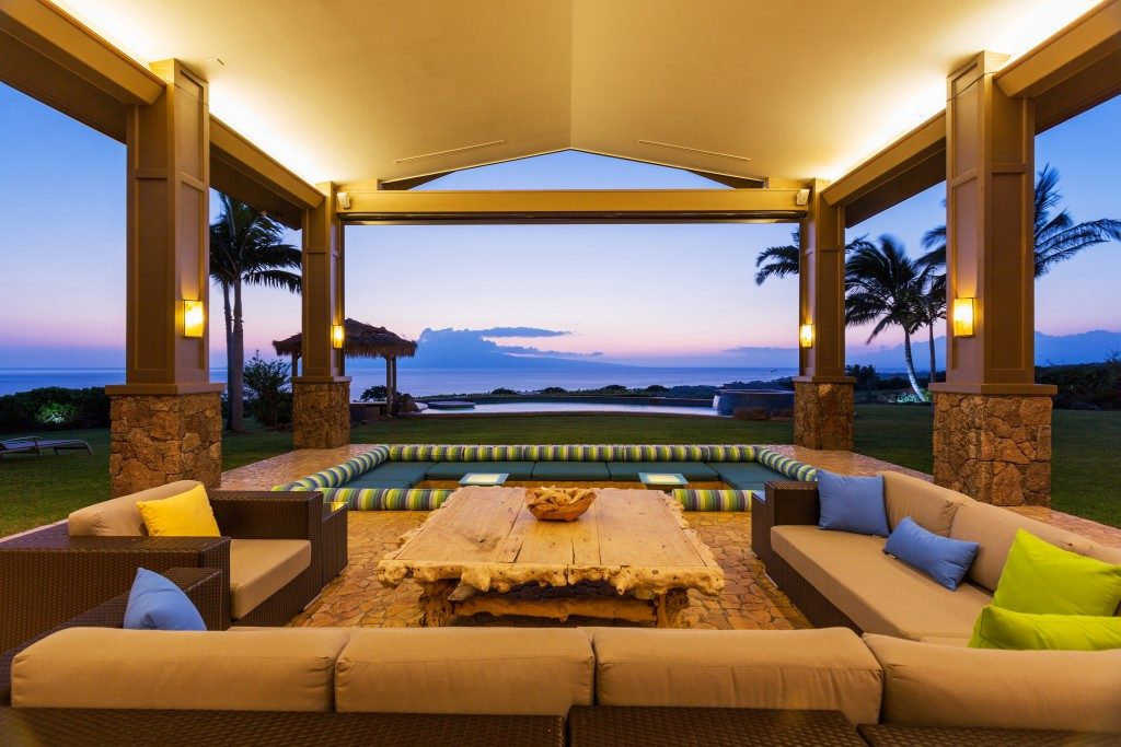 big patio with a great view