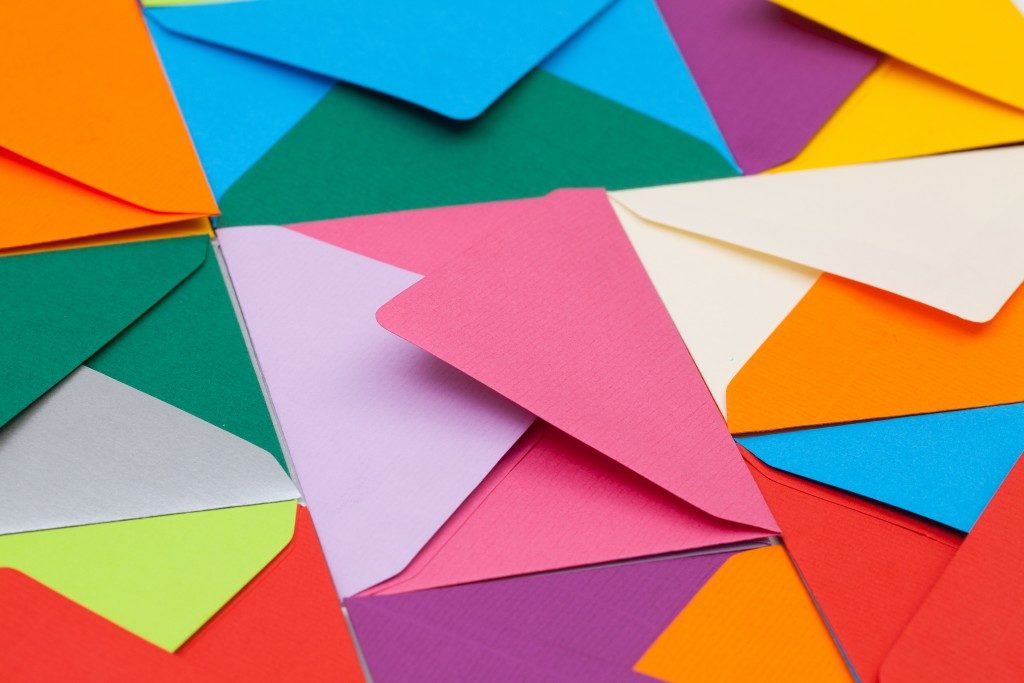 colorful letter envelopes
