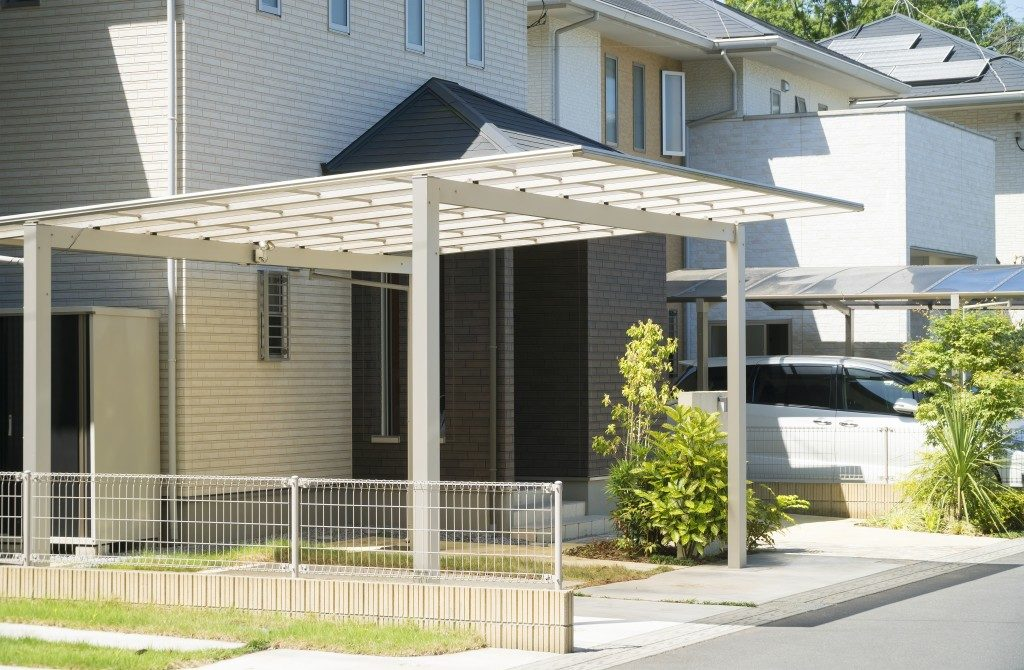 carport at residential home