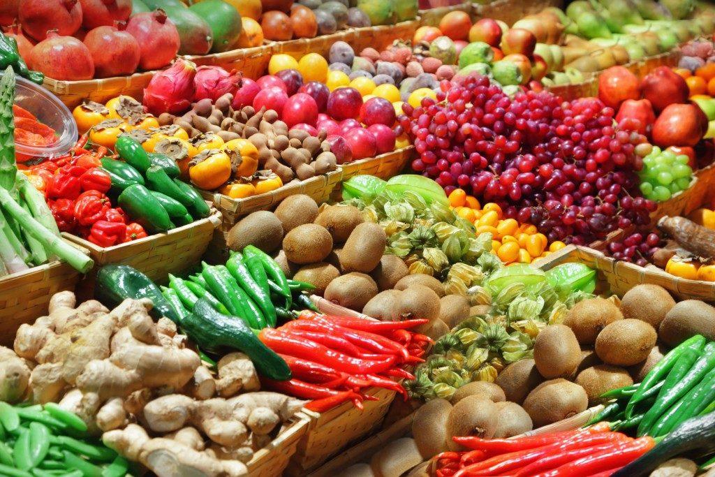 fresh farm produce at the market