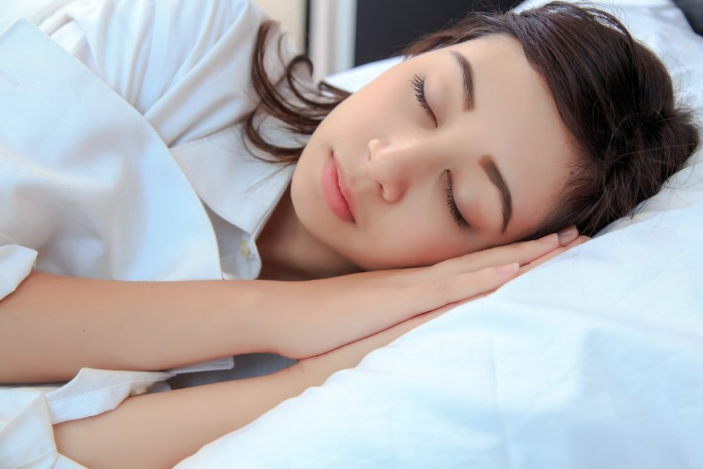 person sleeping soundly