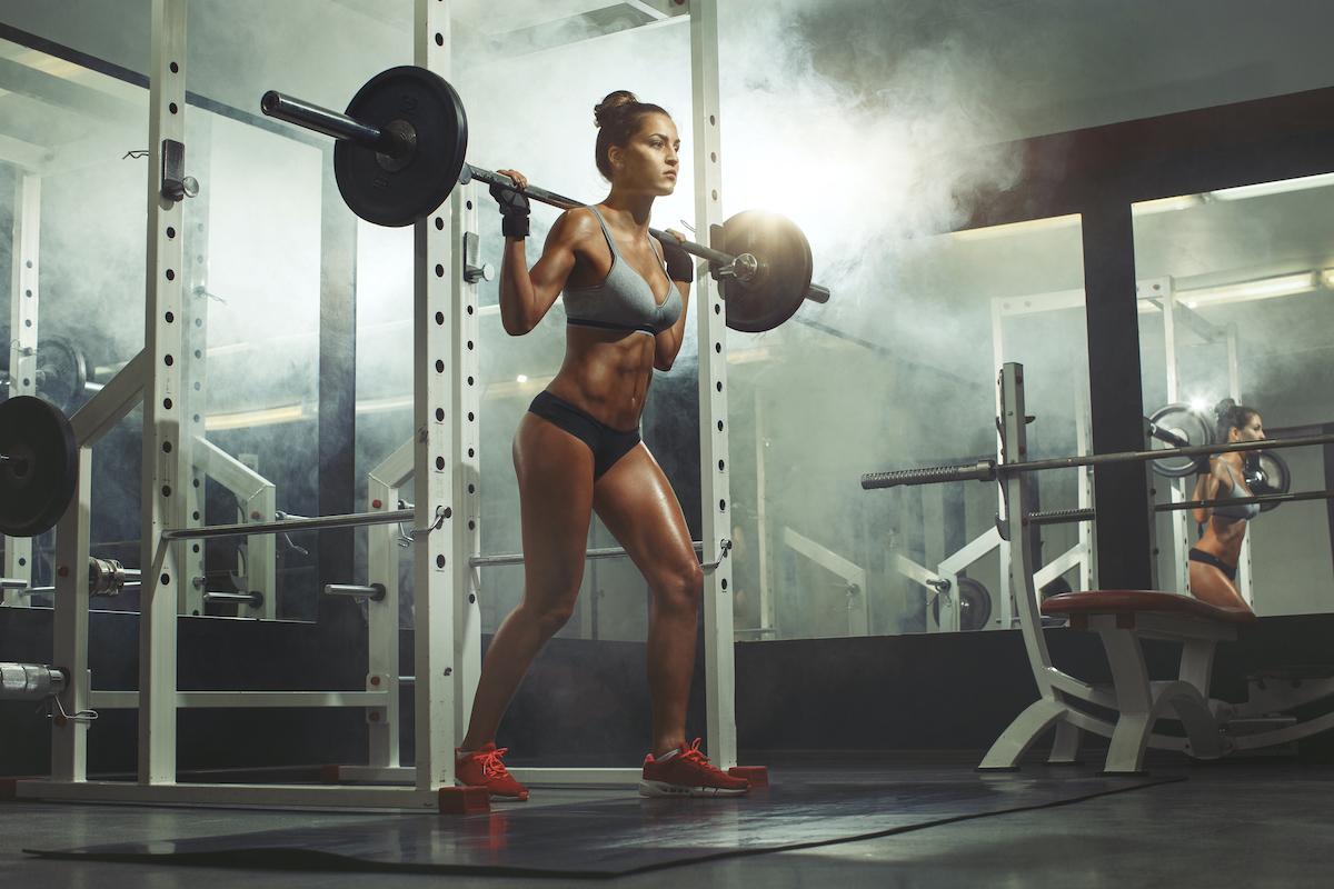 woman lifting at the gym