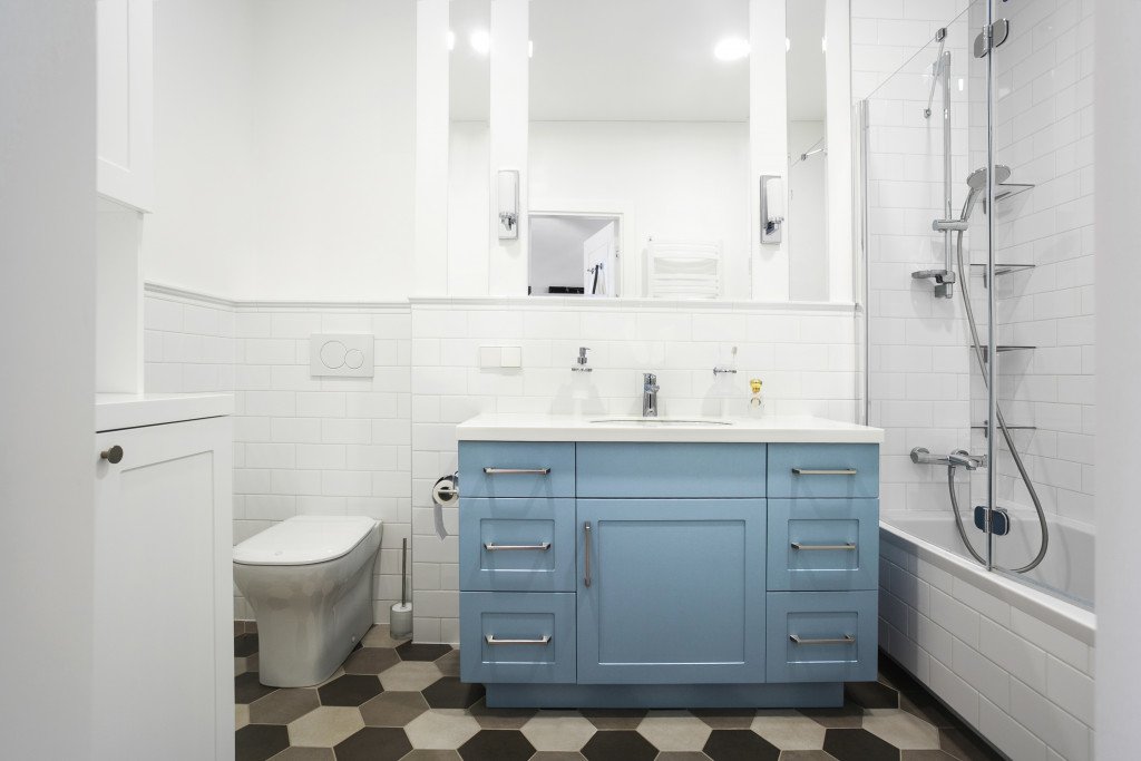 white simple bathroom
