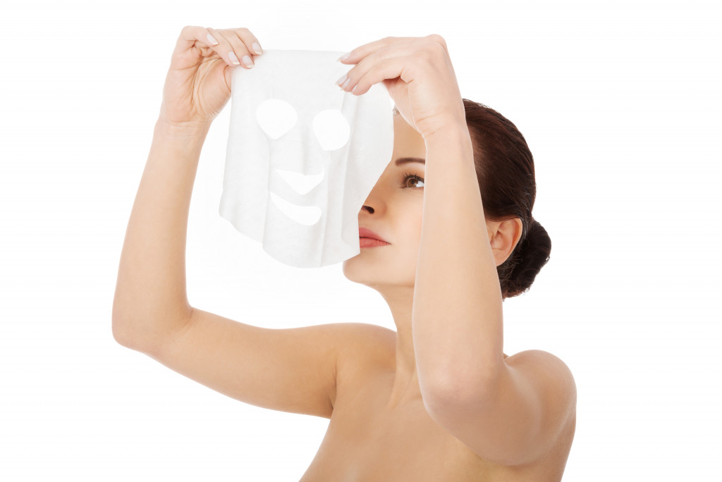 skin care with mask